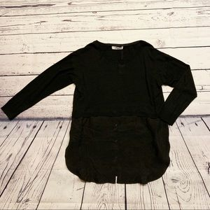 ZARA black 2 in 1 Sweater&Button Down Shirt